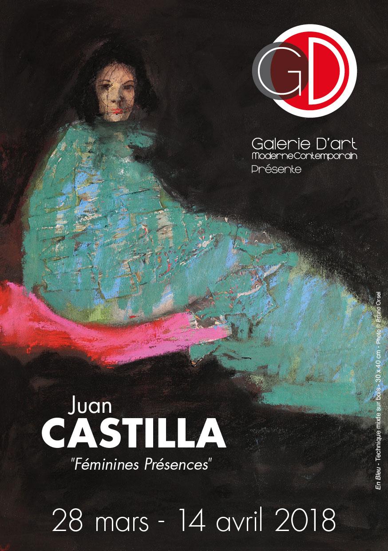 Affiche Exposition Juan Castilla Galerie GD