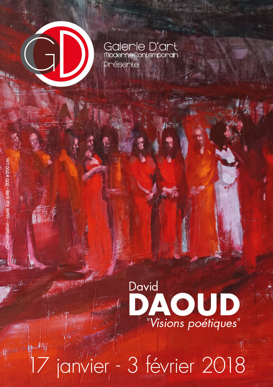 Affiche Exposition David Daoud Galerie GD
