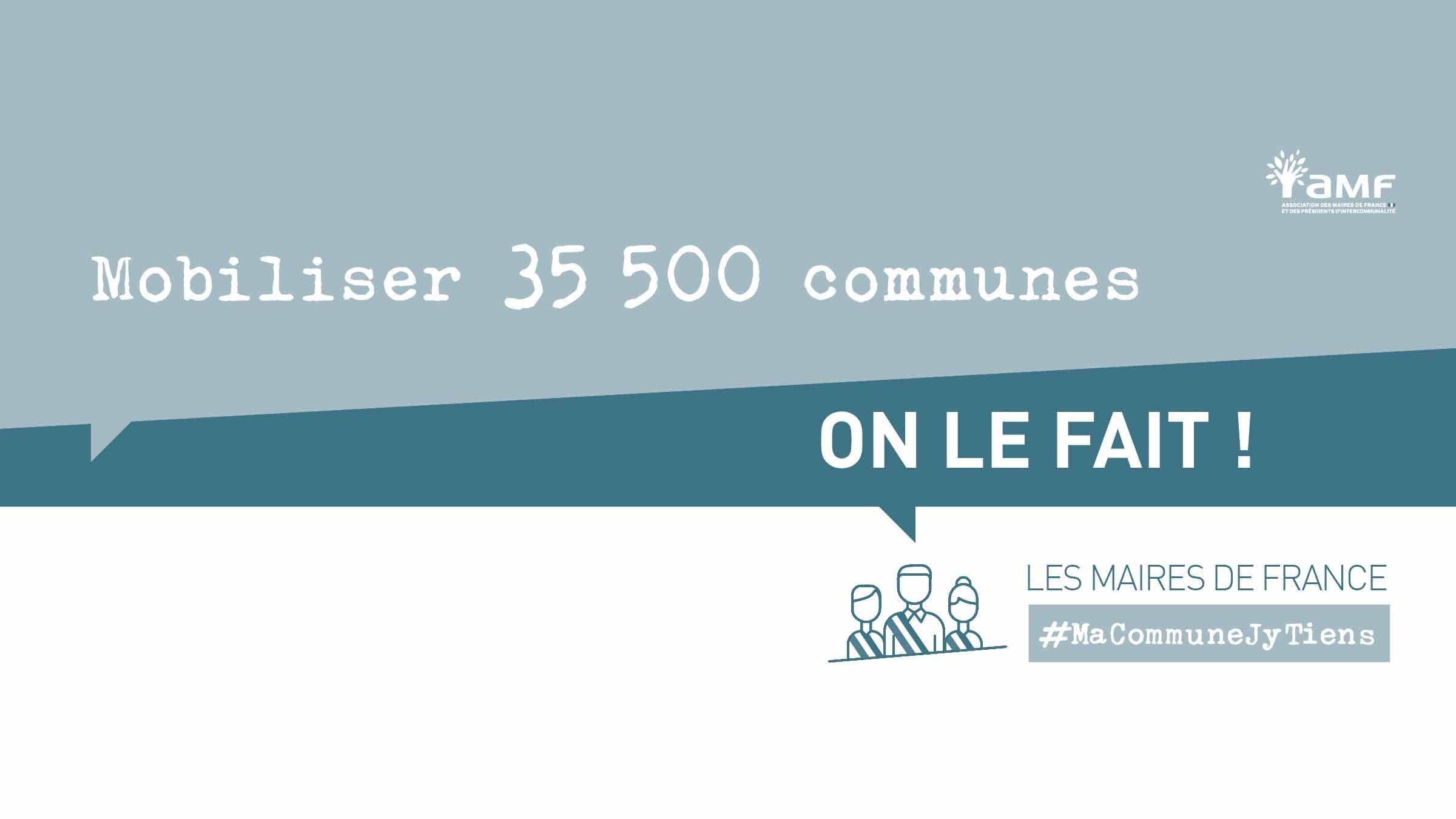 Campagne de sensibilisation de l'Association des Maires de France MaCommuneJ'yTiens