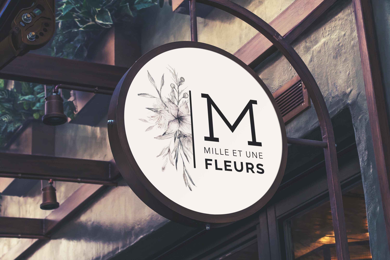 Enseigne logo fleuriste