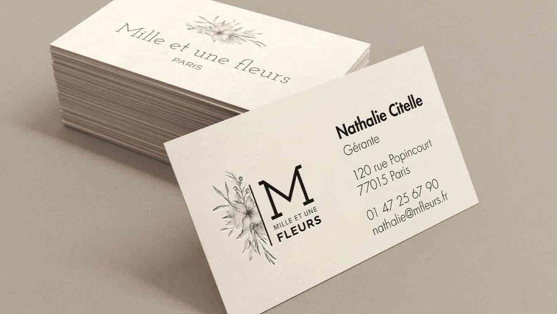 Charte graphique, logo, Papeterie Boutique fleuriste