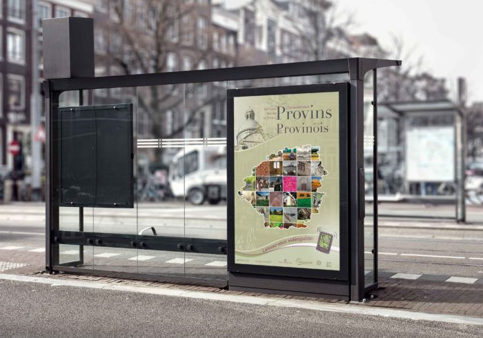 Conception et réalisation de divers supports (affiche, carte postale, dépliant,…) pour l'office du tourisme de Provins.