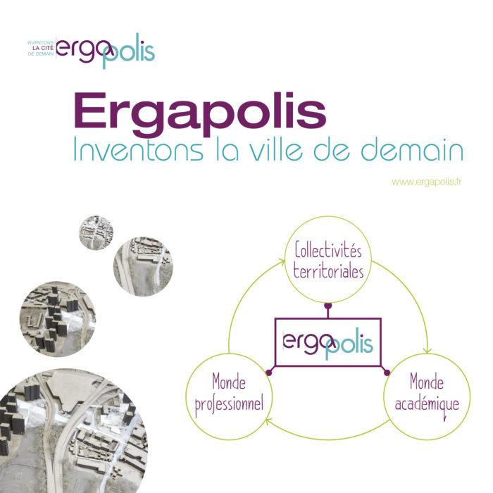 Mise en page d'une Présentation projetée pour l'Institut Ergapolis, entreprise de l'Économie Sociale et Solidaire dédiée à l'aménagement durable des territoires.