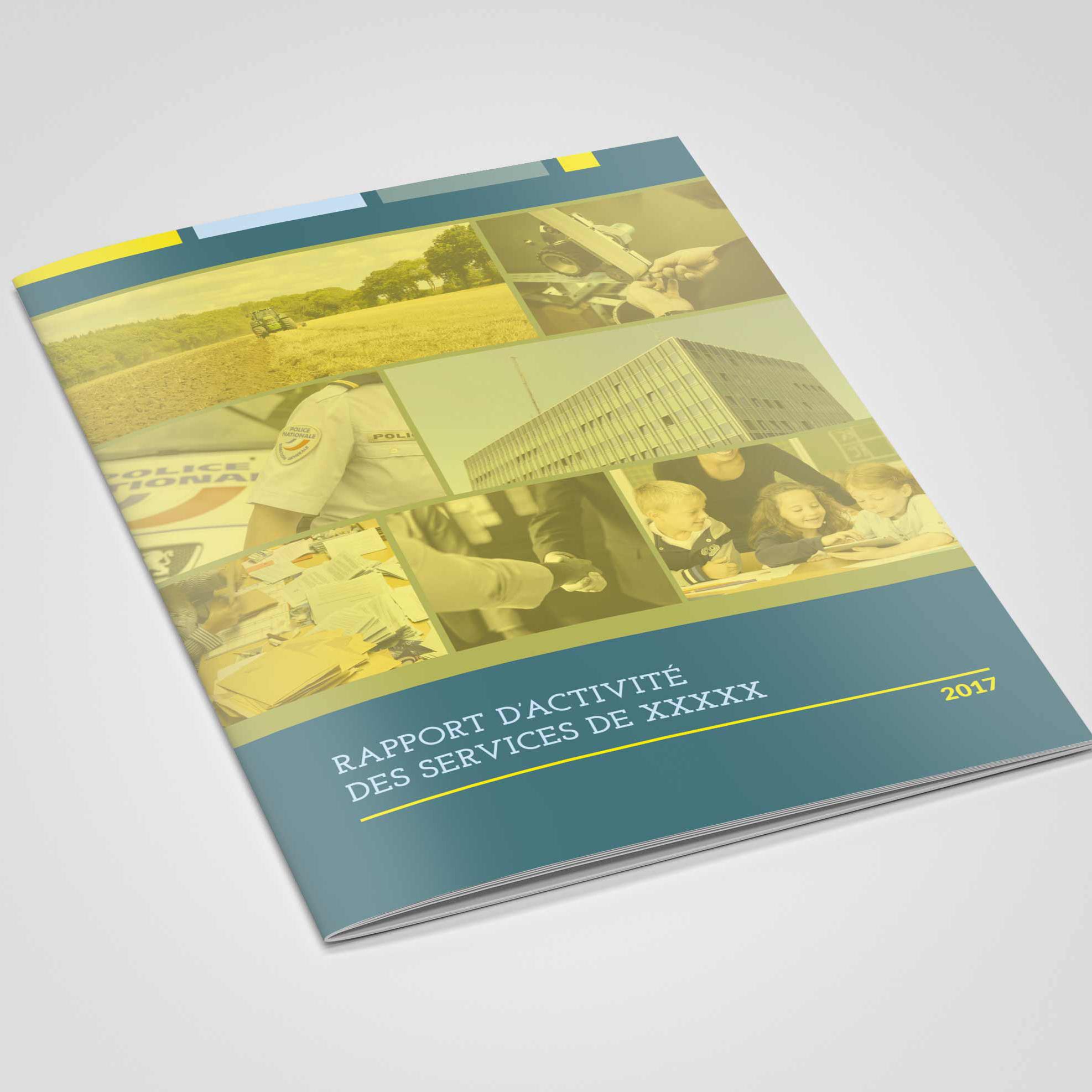 Rapport d'activité, bilan annuel. Maquette, mise en pages, graphisme.