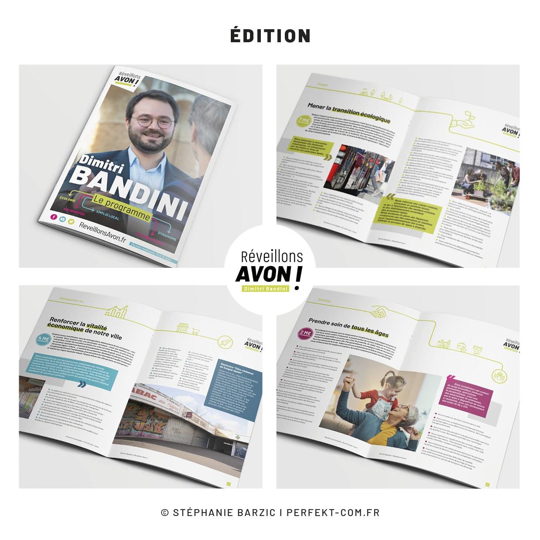 Conception et réalisation des documents de campagne municipale 2020 Perfekt ! Communication politique