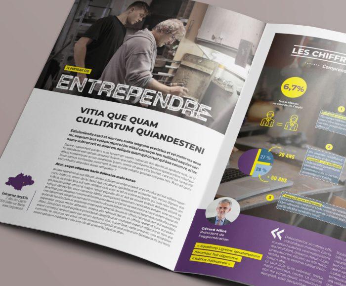 Maquette Magazine Communauté d'agglomération Perfekt ! Communication