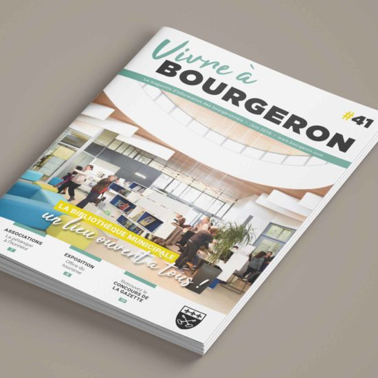 Maquette magazine municipal Couverture - Perfekt ! Communication locale