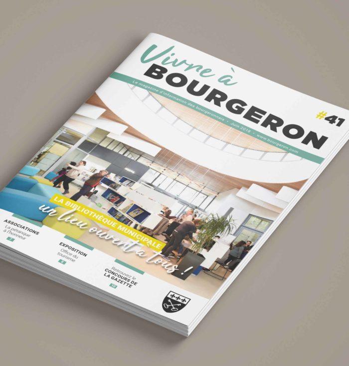Maquette magazine municipal Couverture - Perfekt ! Communication locale