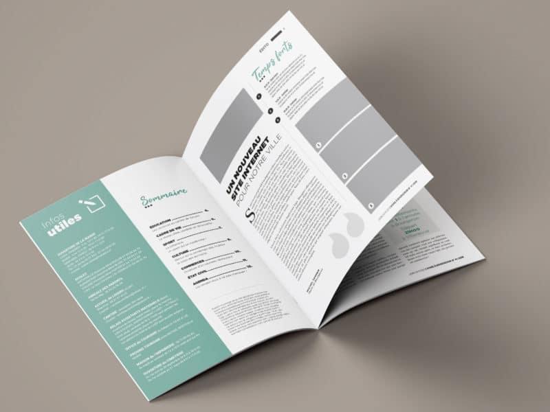 Maquette magazine municipal - Perfekt ! Communication locale